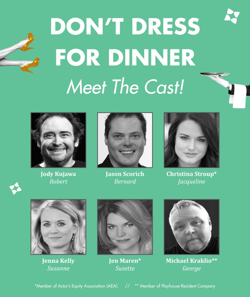 Don't dress for dinner cast